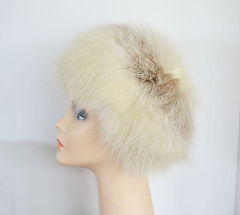ffd4f5e42e4 Two Tone off white Fox fur hat