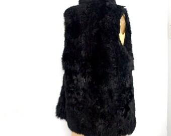 Black Fur vest opossum