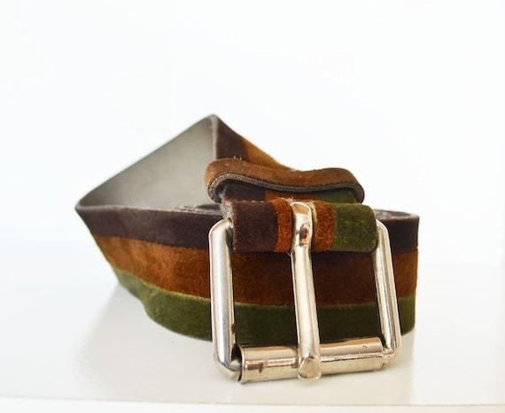 60s PIERRE CARDIN  belt wide  suede retro wide  tr