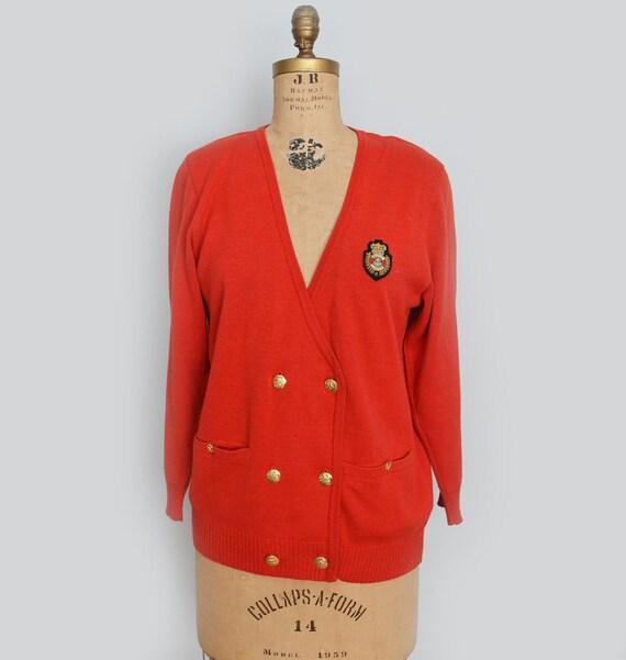 80s  orange cardigan sweater  by MONDI  size 40