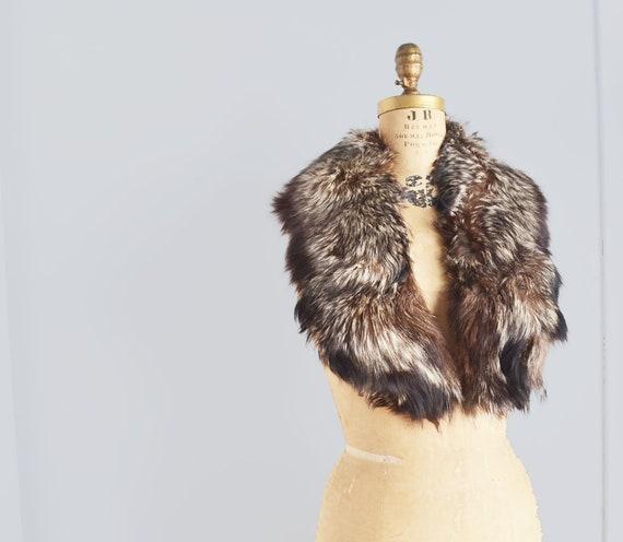 Silver fox Fur Collar Scarf