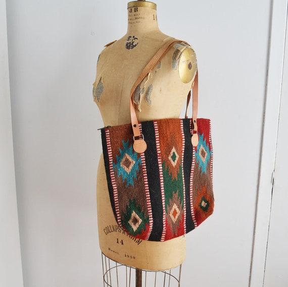 Vintage Kilim  Tote Bag, Tapestry  Market Tote Bag