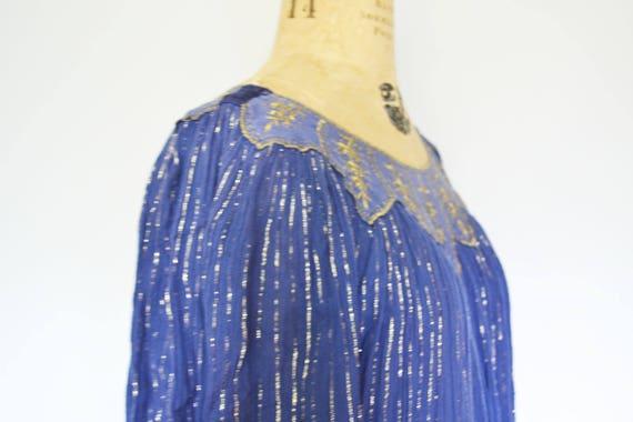 dress vintage gauze tent Large Indian sheer semi dress UYrwYTq1