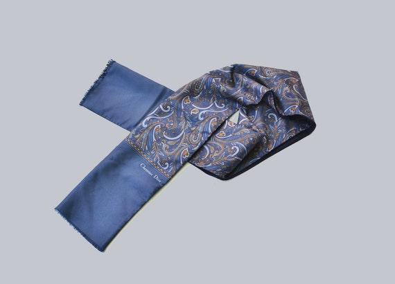 Vintage Men's Scarf – silk Scarf – Christian Dior