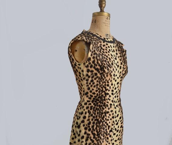 60s leopard print dress - Animal print dress