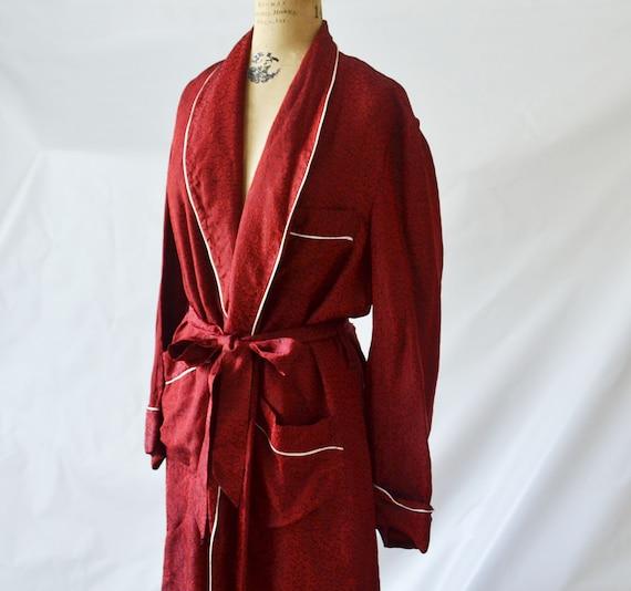 Red smoking jacket by caulfeild