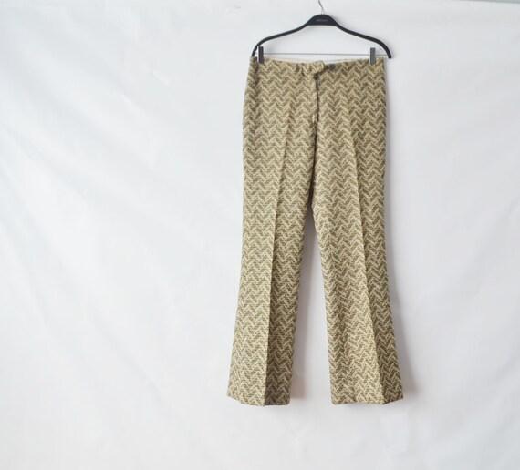 1970s pants  | plaid wool pants By Pantom Made in