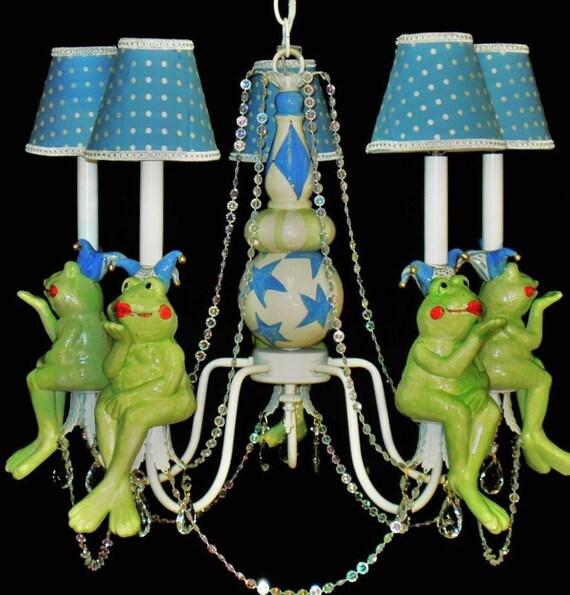 Nursery Chandelier Nursery Lighting Children/'s Lighting Frog Prince and Princess Frog Chandelier Kid/'s Ceiling Fixture