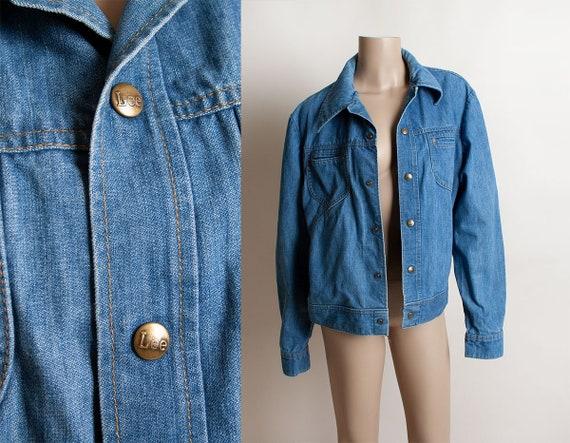 Vintage 1970s Denim Jacket - Lee Set Medium Blue J