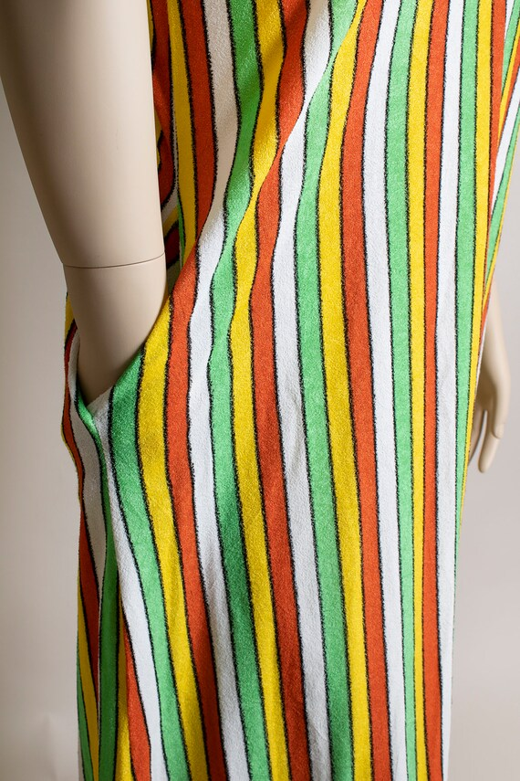 Vintage 1970s Fruit Stripe Towel Dress - Fresh Ci… - image 7