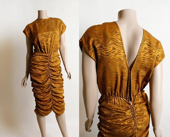 1940s style Dress   40s style print dress  80s does 40s dress