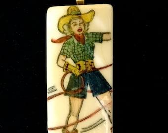 Cowgirl Pendant
