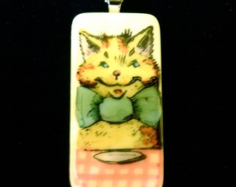Bow Tie Kitty Necklace Set