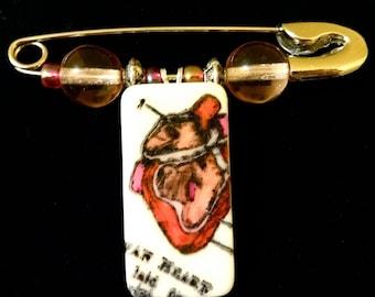 Anatomical Heart Diaper Pin SALE