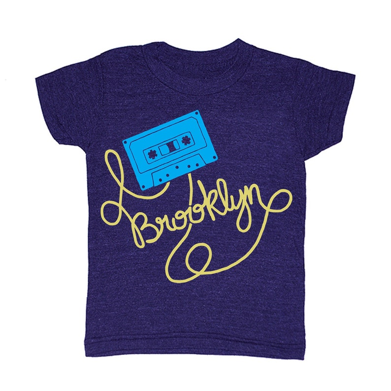 c770d398 Kids Brooklyn Cassette Tape T-shirt Bk Bklyn New York Boy | Etsy