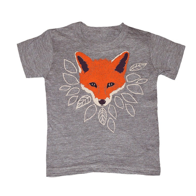77a171aea KIDS Fox T-shirt Boy Girl Youth Toddler Children Tee Shirt | Etsy
