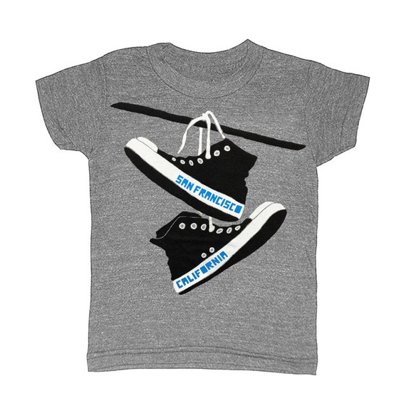 Kinder San Francisco Converse Childrens T Shirt T Shirt Sf Etsy