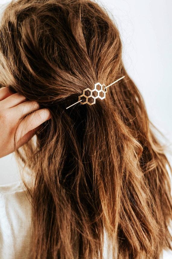 Barrette à Cheveux Française Pince Automatique à Cheveux Épais Epingle
