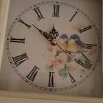 Wall Clock, Shabby Chic, Pendulum Wall Clock, Quartz movement, Shabby Chic, Love birds face