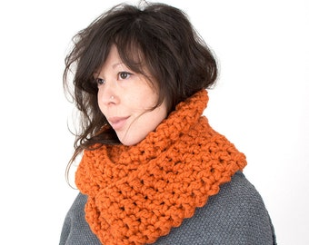 Chunky Crochet Infinity Cowl Pumpkin Other Colours Available