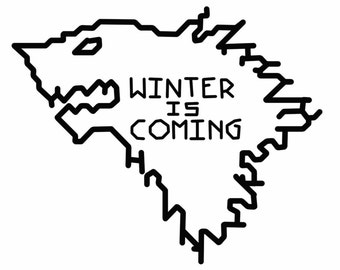 Game of Thrones House of Stark - Winter is Coming Cross Stitch Beginners Pattern. PDF. Beginner/Learn to Cross Stitch!