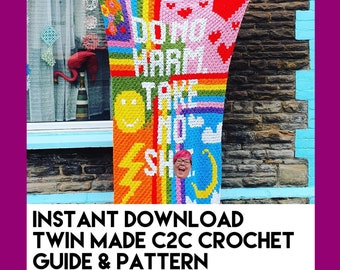 Do No Harm. Take No Shi!t - C2C Crochet Guide and Pattern - Instant Download - Mature Contents