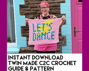 Let's Dance - C2C Crochet Guide and Pattern - Instant Download