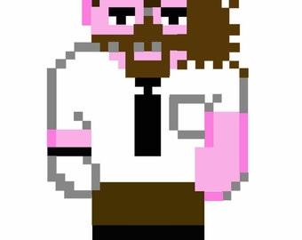 WWE Wrestler Mankind Mick Foley Cross Stitch Pattern. PDF. Man Kind
