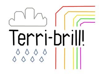Terri-Brill! Cross & Back Stitch Stitch Embroidery Pattern. PDF Instant Download. Perfect for Beginners/Quick Stitch