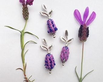 Lavender Stoechas Pendants