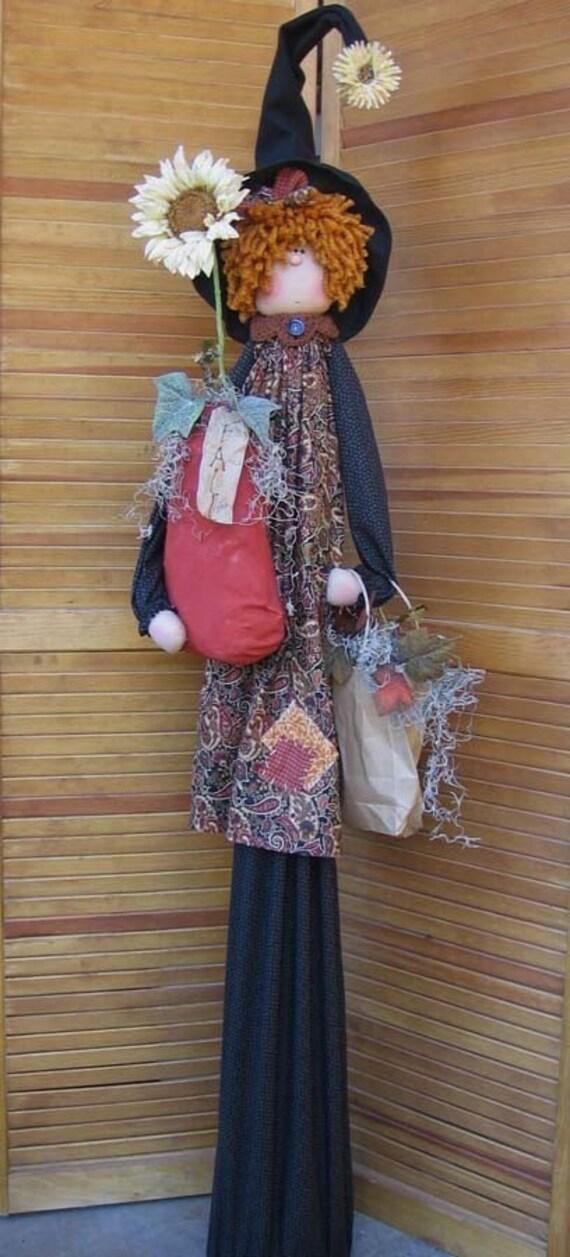 "*NEW* CLOTH FOLK ART DOLL PATTERN /""TALL-N-SKINNY SNOW LADY/"" BY DEENA OLDENBURG"