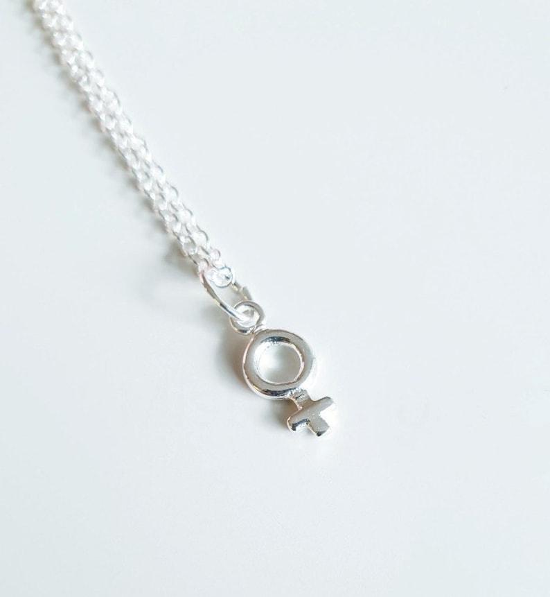 Feminist Necklace Sterling Silver Feminist Gift Venus image 0