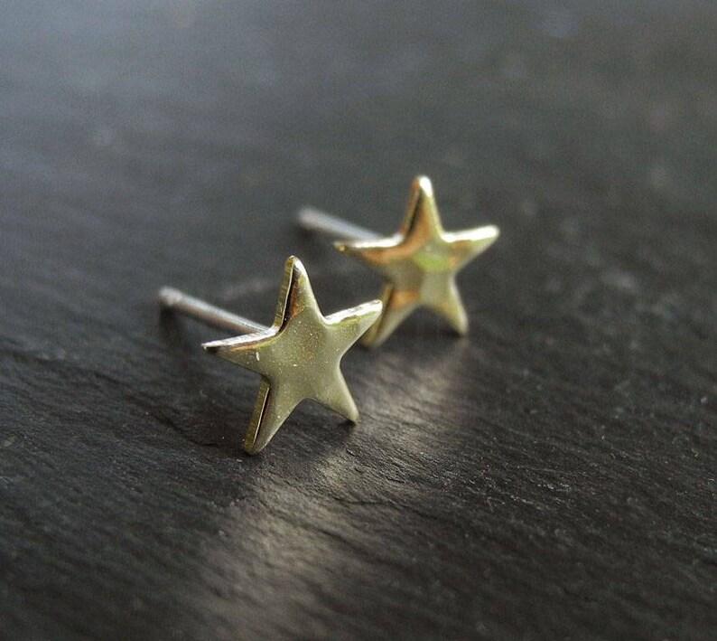 Tiny Star Earrings Star Earrings Star Jewelry Tiny image 0