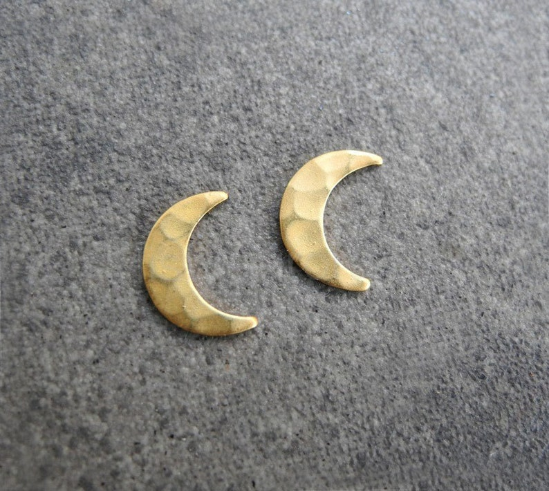 Crescent Moon Earrings Moon Phase Jewelry Lunar Earrings image 0