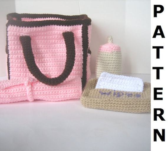 Diaper Bag Crochet Pattern Etsy