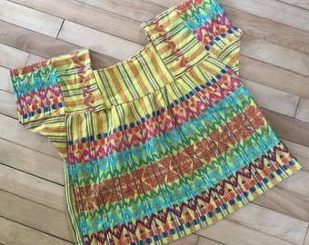 Sunny Yellow Embroidered Ethnic Top