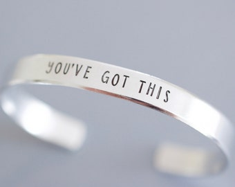 You've Got This Cuff Bracelet - 1/4 inch