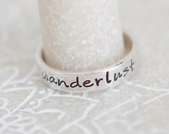 Wanderlust Ring - Sterling Stacking Ring - Ring for Women - Gifts for Her