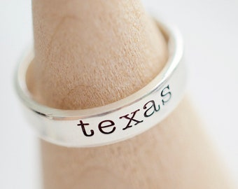 Texas Ring - Sterling Stacking Ring - Ring for Women - Gifts for Her