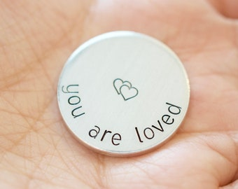 You are loved Token - Personalized Pocket Token - Custom Token Golf Ball Marker