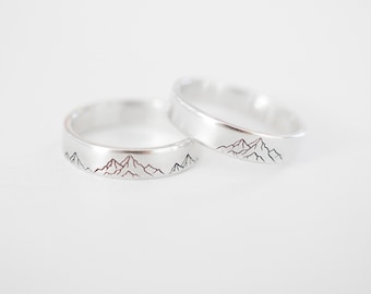 d7c225307 Mountain Ring - Sterling Silver Ring - Ring for Woman - Gifts for Her