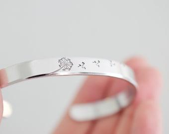 Dandelion Bracelet - Nature Jewelry - Bracelet for Women - 1/4 inch