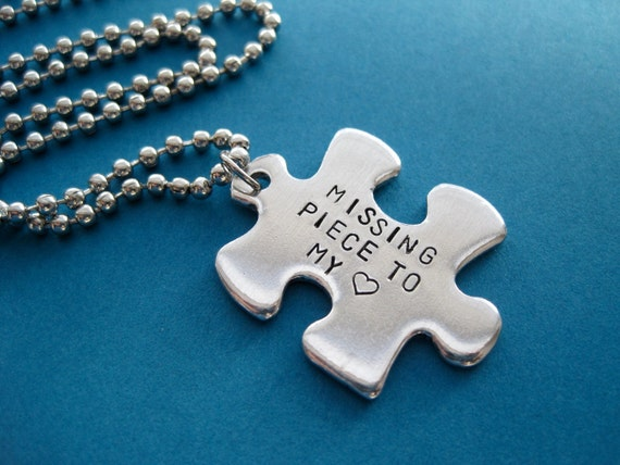 items similar to personalized puzzle piece necklace
