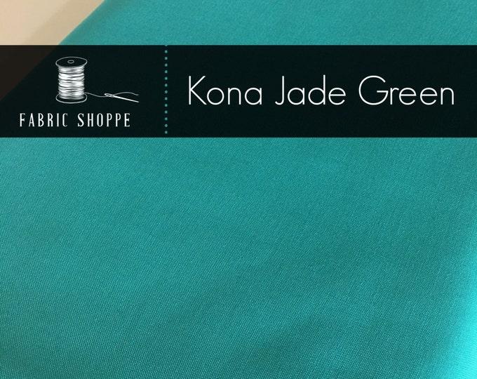 Kona cotton solid quilt fabric, Kona JADE GREEN 1183, Kona fabric, Solid fabric Yardage, Kaufman, Aqua fabric, Choose the cut