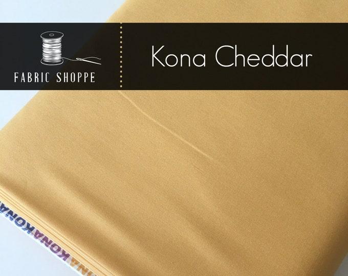 Kona cotton solid quilt fabric, Kona CHEDDAR 350, Woodland Blanket Fabric, Quilt Backing, Kaufman, Woodland Nursery, Choose the cut