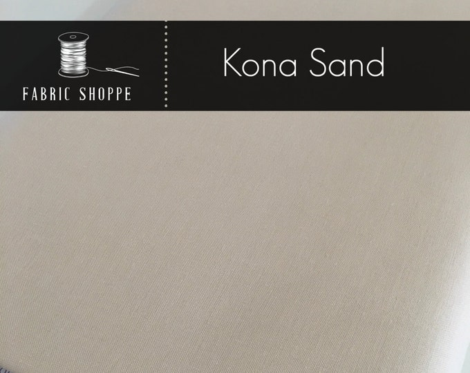 Kona cotton solid quilt fabric, Kona SAND 1323, Ivory fabric, Solid fabric Yardage, Kaufman, Cotton fabric, Choose the cut