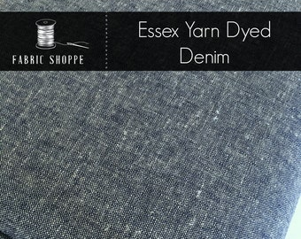 Essex Denim, Denim fabric, Essex Linen, Essex Yarn Dyed, Apparel Fabric, Denim Dress fabric, Light fabric, Linen fabric, Essex in Denim