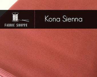 Kona cotton solid quilt fabric, Kona SIENNA 1332, Woodland Blanket Fabric, Quilt Backing, Kaufman, Woodland Nursery, Choose the cut