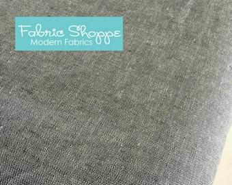 Essex Linen, Essex Yarn Dyed, Apparel Fabric, Quilt fabric, Cotton fabric, Gray Fabric, Linen Blen, Robert Kaufman, Essex in Graphite