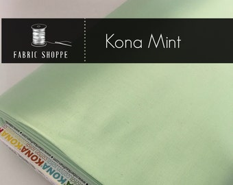 Kona cotton solid quilt fabric, Kona MINT 1234, mint fabric, Solid fabric Yardage, Kaufman, Cotton fabric, Choose the cut